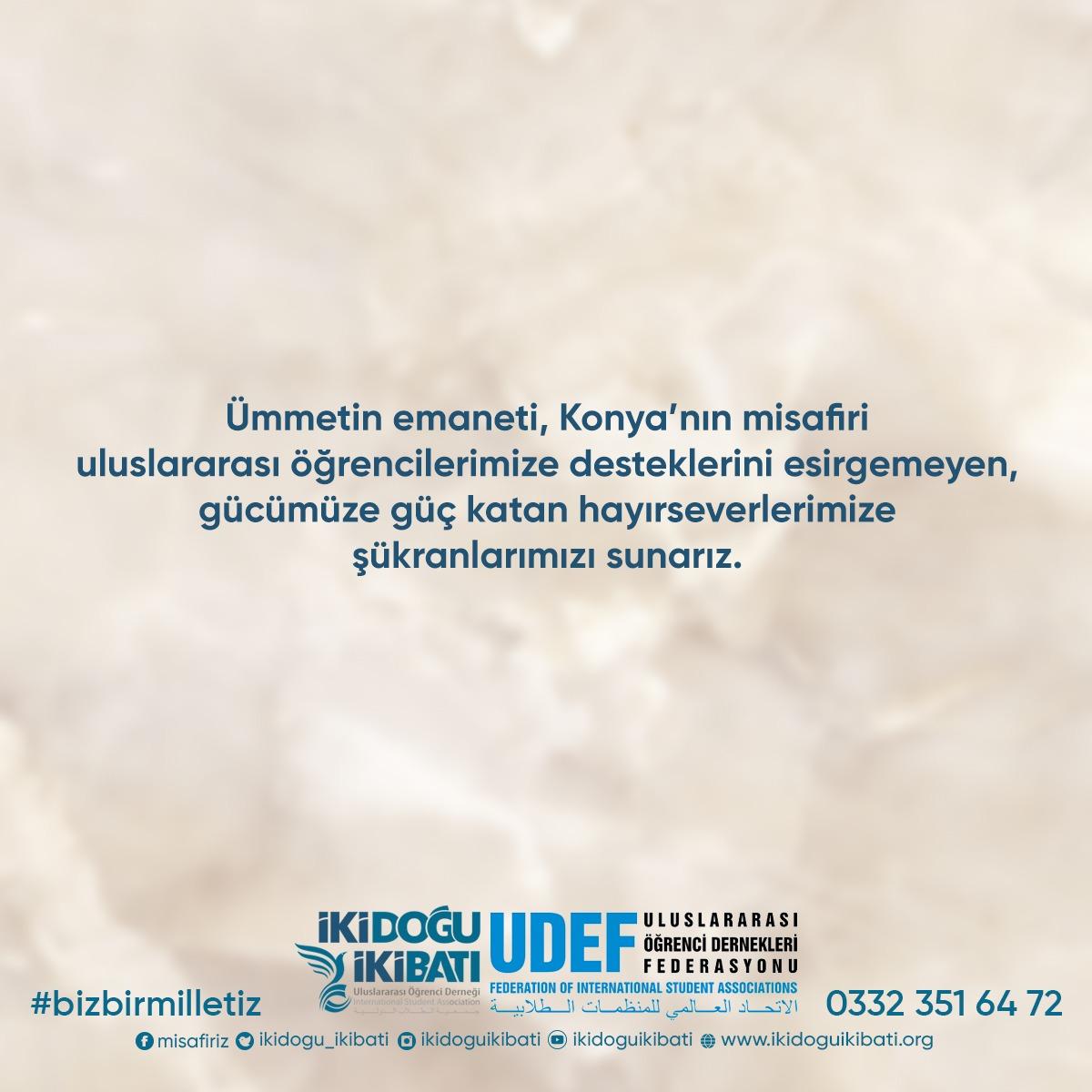 Konya'daki Uluslararası Öğrencilere 238 bin 377 TL Değerinde Bağış