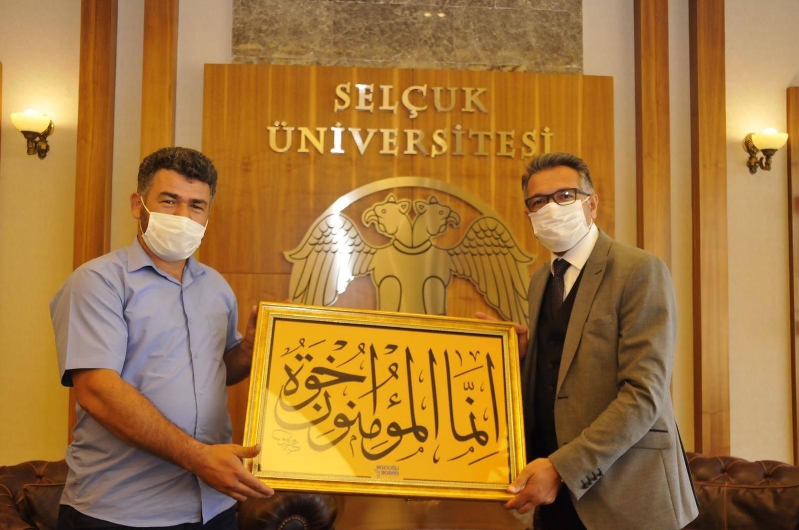 İki Doğu İki Batı'dan SÜ Rektörü Aksoy'a Ziyaret